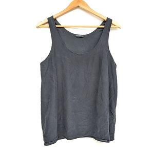 CLUB MONACO 100% silk black tank top blouse